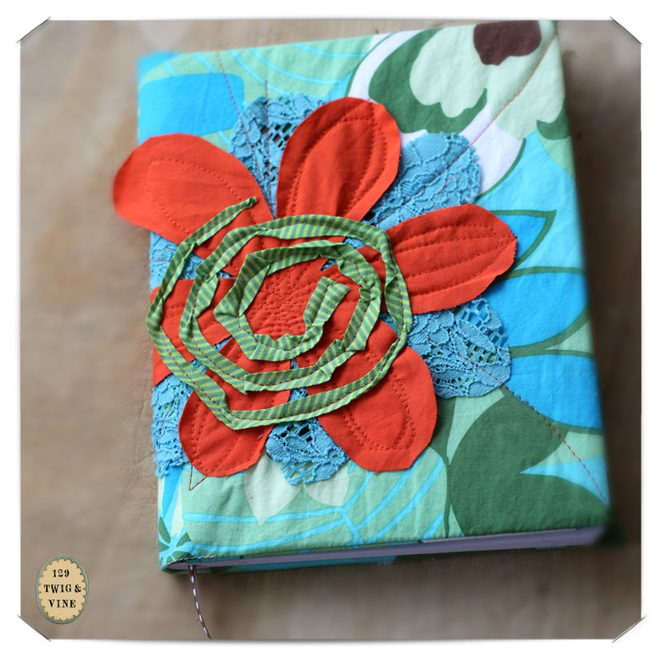 129twigandvine—in the studio, journal cover by ilo collective, etsy