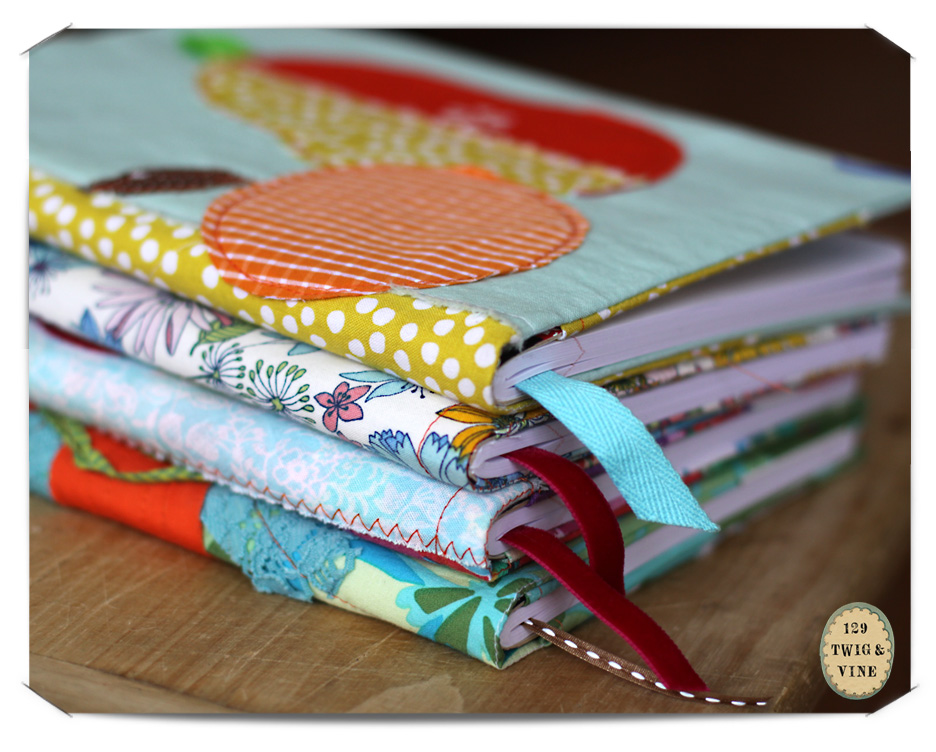 129twigandvine—in the studio, journal covers by ilo collective, etsy