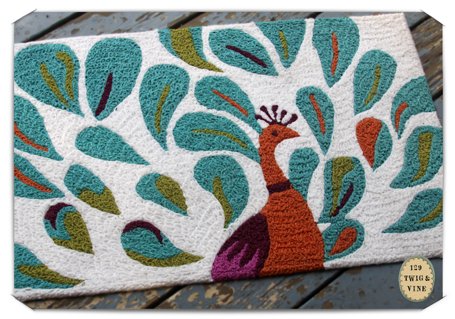 129twigandvine peacock rug, art and photography © Sue Schlabach